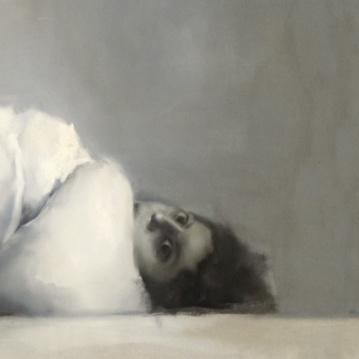 Detalle Simulacro histérico. Óleo sobre lienzo. 122 x 240 cm