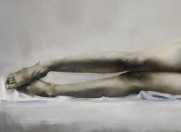Contractura (detalle) Óleo sobre lienzo. 122 x 250 cm
