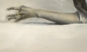 Detalle Simulacro histérico. Óleo sobre lienzo.122 x 240 cm