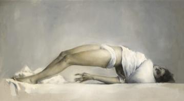 Simulacro histérico. Óleo sobre lienzo. 122 x 240 cm