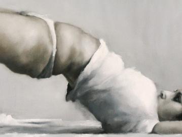 Arco histérico rítmico. Óleo sobre lienzo. 122 x 250 cm